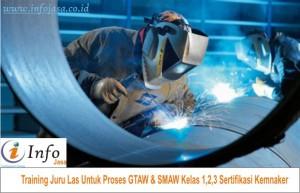 Training Juru Las Untuk Proses GTAW & SMAW Kelas 1,2,3 Sertifikasi Kemnaker