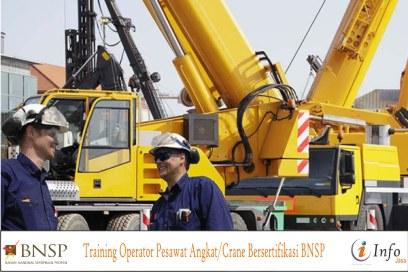 Training Operator Pesawat Angkat Crane Bersertifikasi BNSP